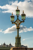 The old-fashioned street lamp, London, England. The old-fashioned street lamp against the sky. London, England royalty free stock photos
