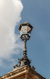 The old-fashioned street lamp, London, England. The old-fashioned street lamp against the sky. London, England royalty free stock photography