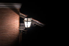 Old fashioned street lamp night view Royalty Free Stock Photos