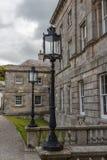 Old-fashioned street lamp. Powerscourt. Ireland. Royalty Free Stock Image