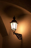 Old fashioned street light. At night Stock Photography
