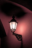 Old fashioned street light. At night Royalty Free Stock Photos