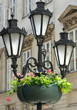 Old fashioned street lights Royalty Free Stock Image