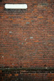 Old fashioned street sign brick wall background Stock Photos