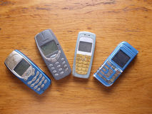 Old fashioned style cell phone Royalty Free Stock Images