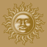 Old-fashioned sun decoration Royalty Free Stock Images