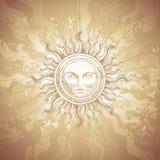 Old-fashioned sun decoration Stock Photo