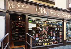 Old Fashioned Sweet Shop, Stafford. Royalty Free Stock Image