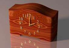 Old-fashioned table clock vector illustration