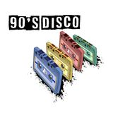 Old-fashioned tape audio cassette, symbol of retro music. Analog. Media for recording and listening to stereo music. 80`s party,  pop music party 1990, vintage Royalty Free Stock Images