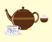 Old fashioned teapot Stock Photos