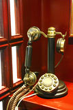 Old-fashioned telephone in Istanbul, Turkey. An old-fashioned telephone in a hotel of Istanbul, Turkey Stock Photos