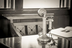 Old-fashioned telephone receiver Royalty Free Stock Image