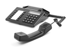 Old-fashioned telephone receiver Stock Photo
