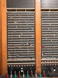 Old fashioned telephone switchboard. Old antique jack plug and socket telephone switchboard Royalty Free Stock Photos