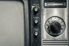 Old fashioned television. Old fashioned television close up background stock images