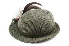 Old-fashioned tirol man's hat Stock Photography