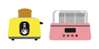 Old fashioned toaster vector illustration kitchenware appliance hot symbol electric tool and domestic yogurt electrical Royalty Free Stock Photo