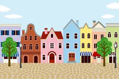 Old fashioned Town. Illustration of Old fashioned Town Royalty Free Stock Image