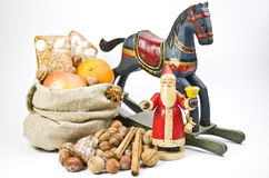 Old-fashioned toys and sweets Stock Photography