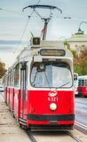 Old fashioned tram in Vienna, Austria Royalty Free Stock Photography