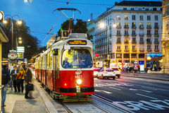 Old fashioned tram in Vienna, Austria Stock Photos
