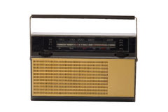 Old-fashioned transistor radio receiver Royalty Free Stock Photos