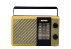 Old-fashioned transistor radio receiver Royalty Free Stock Photo