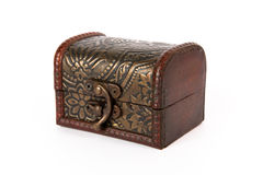 Old-fashioned treasure chest royalty free stock images