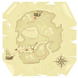 Old-fashioned treasure map Stock Images