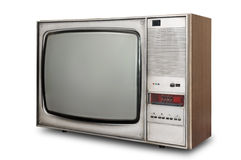 Old-fashioned tube TV Royalty Free Stock Photos