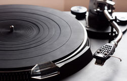 Old fashioned turntable Royalty Free Stock Photos