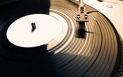 Old fashioned turntable playing a track Royalty Free Stock Photos