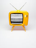 Old fashioned TV set. 3D render of a old fashioned TV set on white Stock Photo