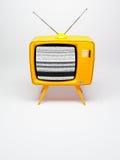 Old fashioned TV set. 3D render of a old fashioned TV set on white royalty free illustration