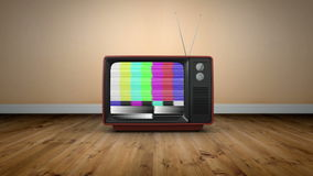 Old fashioned tv with static. Digital animation of Old fashioned tv with static stock footage