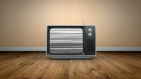 Old fashioned tv with static. Digital animation of Old fashioned tv with static stock video