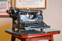 Old Fashioned Typewriter on Display in Casa Mila Stock Photography