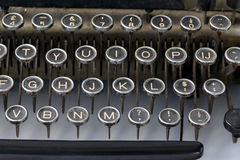 Old fashioned typewriter keys Royalty Free Stock Photography