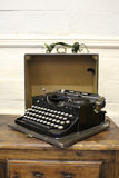 Old Fashioned Typewriter on Wooden Desk Royalty Free Stock Photos