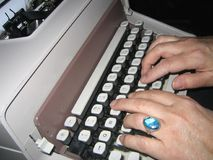 Old fashioned typing Stock Photos