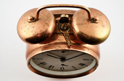 Vintage copper alarm clock Stock Photography