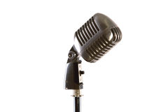 Old fashioned vintage microphone. Old fashion retro microphone for singing Stock Images