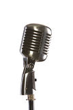 Old fashioned vintage microphone. Old fashion retro microphone for singing Stock Image