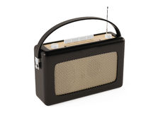 Old fashioned vintage portable radio. Stock Photos