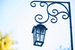 Old fashioned vintage street lamp Stock Photography