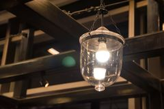 Old fashioned vintage street lamp. Old fashioned vintage street kerosene or oil lantern Royalty Free Stock Photography