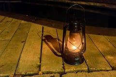 Old fashioned vintage street lamp. Old fashioned vintage street kerosene or oil lantern Royalty Free Stock Photo