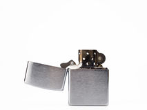 Old fashioned vintage zippo isolated on white back Stock Images