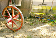 Old fashioned wagon wheel Royalty Free Stock Images
